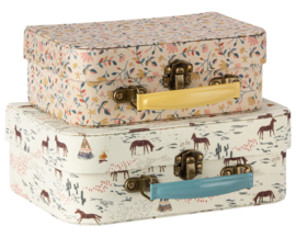 Maileg Set koffertjes bekleed met textiel, Suitcases with fabric
