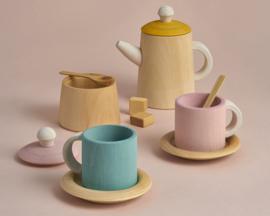 Raduga Grëz Houten Theeservies, Tea Set, Pastel
