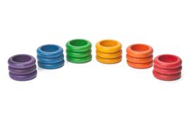 Grapat Ringen, 18 stuks, basiskleuren
