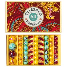 Billes & Co Knikkers in doosje, Draak/Dragon Yuzu, 63 stuks
