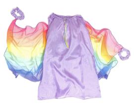 Sarah's Silks Zijden Elfen Jurk met Vleugels, Lavendel
