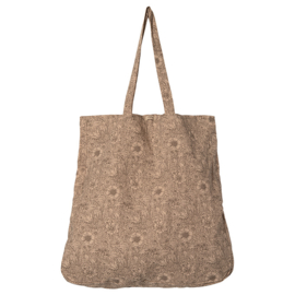 Maileg Canvas Tas, Tote bag, Flowers - 50 x 44 cm