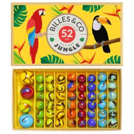 Billes & Co Knikkers in doosje, Jungle Box 2, 52 stuks