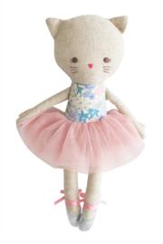 Alimrose Knuffel Poes, Odette Kitty Ballerina - Liberty Blue, 25 cm