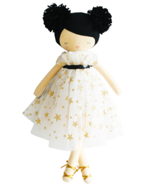 Alimrose Knuffelpop, Iris Pom Pom Doll Gold Star, 48 cm