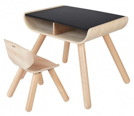 Plan Toys Houten Kindertafel met stoeltje