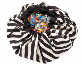 Play & Go Speelkleed / opbergzak Stripes Zwart
