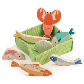 Mandje met vis - Tender Leaf Toys