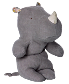 Maileg Knuffel Neushoorn Safari Friends Rhino Small, Grey