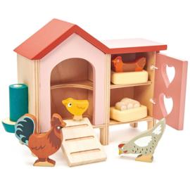 Poppenhuis Huisdierenset - Kippenhok  - Tender Leaf Toys