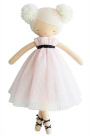 Alimrose Knuffelpop, Scarlett Pom Pom Doll Pink, 48 cm