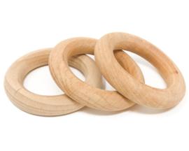 Grapat 3 houten Ringen, Naturel, 8cm