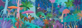 Djeco Puzzel 'Kinder Wandeling', 200 st, 97x33 cm
