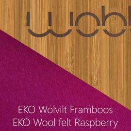 Wobbel original bamboe - vilt framboos