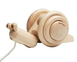 Plan Toys Trekdier Slak, Pull-Along Snail, Naturel