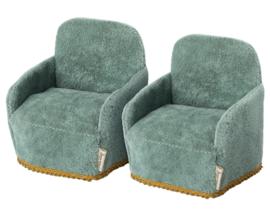 Maileg Set van 2 Stoelen voor muizen, Mouse Chair