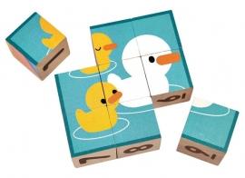 Plan Toys houten puzzelblokken