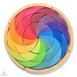 Grimm's houten puzzel/blokkenset 'Kleurencirkel'