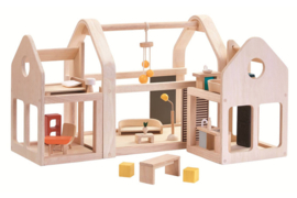 Plan Toys Poppenhuis, Slide & Go Dollhouse