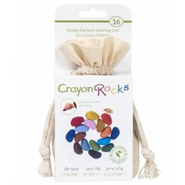 Crayon Rocks, 16 kleuren in katoenen zakje