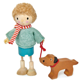 Poppenhuis Popje - Mr Goodwood met hond - Tender Leaf Toys