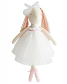 Alimrose Knuffel Konijn, Bronte Ballet Bunny - Fog & Pink, 48 cm