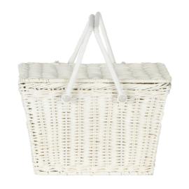 Olli Ella piki Basket picknickmandje Wit