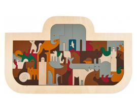 Hape / George Luck Houten Puzzel Ark, 62-delig, 8+