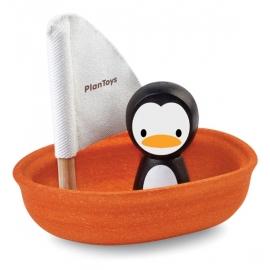 Plan Toys Zeilbootje met pinguïn