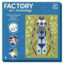 Djeco Factory Elektro Art Kaarten, Insecten, 8+