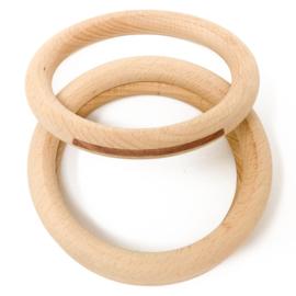 Grapat 3 houten Ringen, Naturel, 13cm