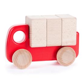 Bajo Houten vrachtwagen, rood
