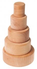 Grimm's houten Stapelbakjes, Naturel
