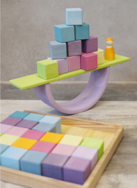 Grimm's Vierkante blokkenset 36-delig Pastel