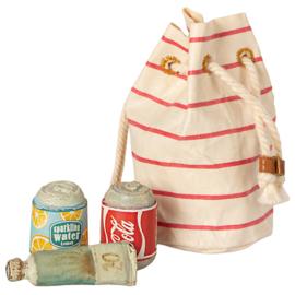 Maileg Strandtas, Bag with Beach essentials