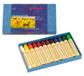 Stockmar Bijenwaskrijtjes, stiftjes 12 kleuren in doosje