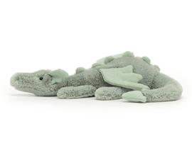 Jellycat Knuffel Draak, Sage Dragon Little, 26 cm