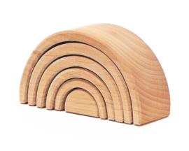 Grimm's houten Regenboog 6-delig, Naturel, Mini