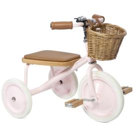 Banwood Trike Driewieler - Pink - met duwstang en mandje