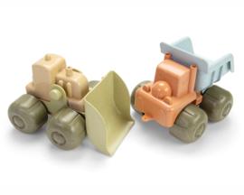 Dantoy Bioplastic Bouwvoertuigen Set, Shovel en Dump Truck