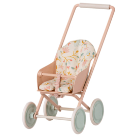 Maileg metalen kinderwagen/buggy micro, Powder