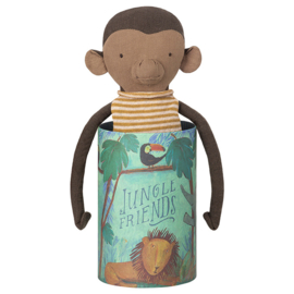 Maileg Jungle Friends Monkey, knuffel Aap in koker