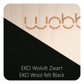 Wobbel XL blank gelakt - vilt zwart - vanaf 140 cm