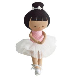 Alimrose Knuffelpop, Baby Ballerina Pink Spot, 25 cm