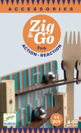 Djeco Zig & Go, Actie-Reactie-Baan, Uitbreidingsset Vork, 14-delig