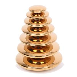 TickiT Spiegelende Stapel Stenen, Reflective Pebbles Gold, 7-delig