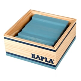 Kapla 40 plankjes in kistje, lichtblauw
