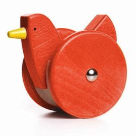 Bajo Grote houten wiebel kip, rood