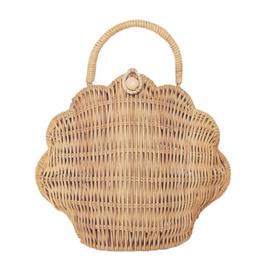 Olli Ella Schelp Tasje, Shell Bag - Straw