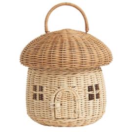 Olli Ella Paddenstoel huisje/tasje, Mushroom Basket